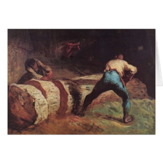 Jean-Francois Millet- The Wood Sawyers Card