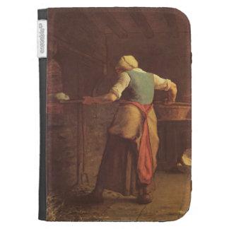 Jean-Francois Millet- Woman baking bread Kindle 3G Covers