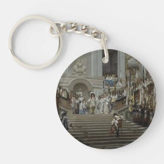 Jean Gerome- Reception of Le Condé at Versailles Single-Sided Round Acrylic Keychain