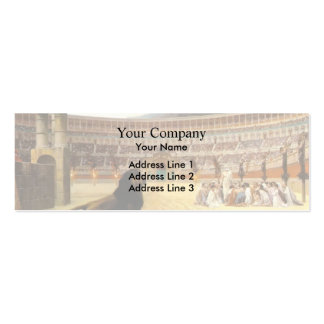 Jean Gerome- The Christian Martyr s Last Prayer Business Card Template