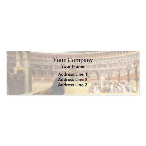 Jean Gerome- The Christian Martyr's Last Prayer Business Card Template