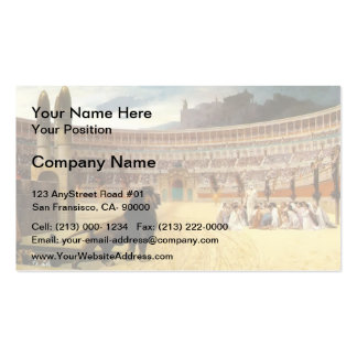 Jean Gerome- The Christian Martyr's Last Prayer Pack Of Standard Business Cards