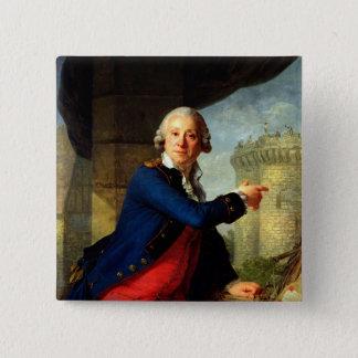Jean-Henri  Chevalier de Latude, 1789 15 Cm Square Badge