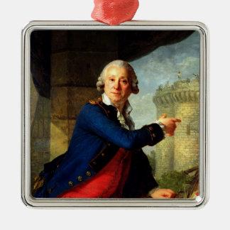 Jean-Henri  Chevalier de Latude, 1789 Silver-Colored Square Decoration