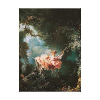 Jean-Honor Fragonard The Swing Canvas Print