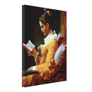 Jean-Honore Fragonard - Reading woman Canvas Print