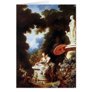 Jean-Honore Fragonard- The Confession of Love Card