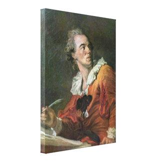 Jean-Honore Fragonard - The poet Canvas Prints
