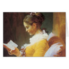 Jean-Honore Fragonard The Reader Card