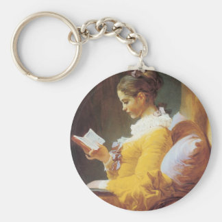 Jean-Honore Fragonard The Reader Key Ring