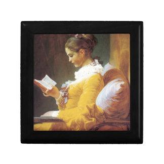 Jean-Honore Fragonard The Reader Small Square Gift Box