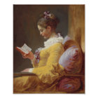 Jean-Honore Fragonard Young Girl Reading Poster