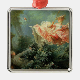 Jean-Honore Frangonard's rococo painting The Swing Christmas Ornament