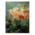 Jean-Honore Frangonard's rococo painting The Swing Postcard