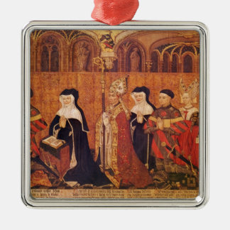 Jean I Jouvenel des Ursins  with wife and Silver-Colored Square Decoration