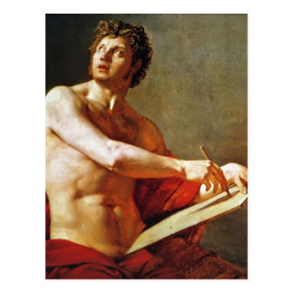 Jean Ingres- Academic Study of a Male Torse Post Card
