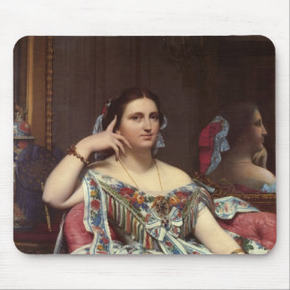 Jean ingres- Portrait of Madame Moitessier Sitting Mouse Mat