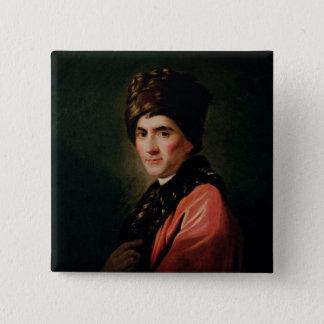 Jean Jacques Rousseau 15 Cm Square Badge