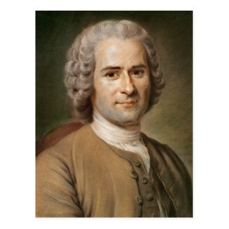 Jean-Jacques Rousseau  after 1753 Postcard
