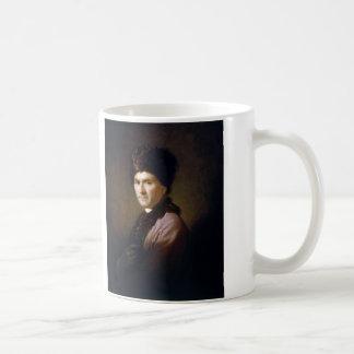 Jean-Jacques Rousseau by Allan Ramsay (1766) Basic White Mug