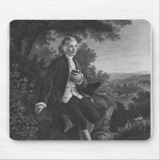 Jean-Jacques Rousseau composing 'Emile' Mouse Mat