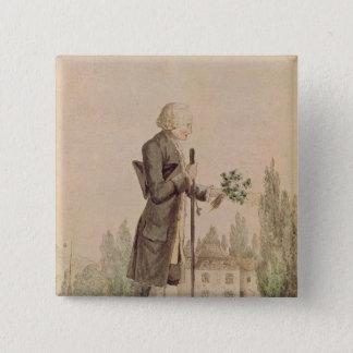 Jean-Jacques Rousseau  Gathering Herbs 15 Cm Square Badge