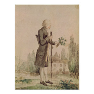 Jean-Jacques Rousseau  Gathering Herbs Poster