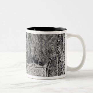 Jean-Jacques Rousseau's  tomb at Ermenonville Two-Tone Coffee Mug