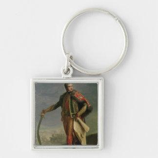 Jean Lannes  Duke of Montebello Silver-Colored Square Key Ring