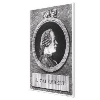 Jean le Rond d'Alembert Canvas Print