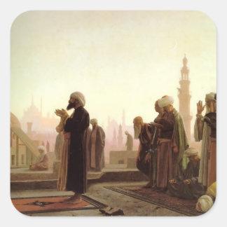 Jean-Leon Gerome- Prayer in Cairo Square Stickers