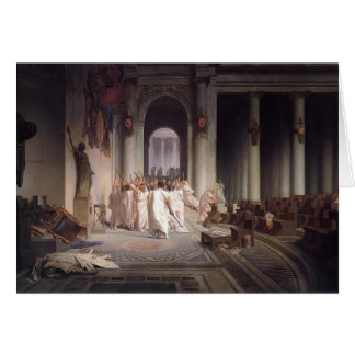Jean-Leon Gerome- The Death of Caesar Card