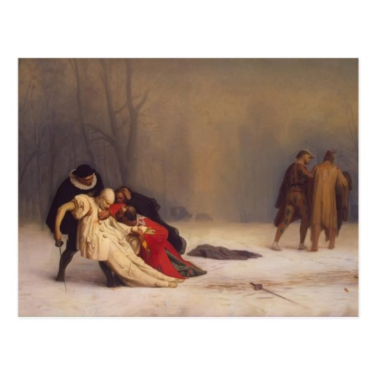 Jean-Leon Gerome- The Duel after the Masquerade Postcard
