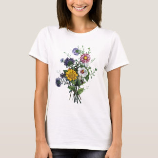 Jean Louis Prevost Daisy and Sunflower Bouquet T-Shirt