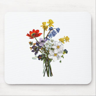 Jean Louis Prevost Narcissus and Buttercup Bouquet Mouse Pad
