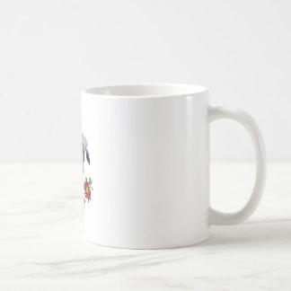 Jean Louis Prevost Purple Iris Bouquet Basic White Mug