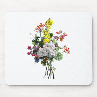 Jean Louis Prevost Rose and Begonia Bouquet Mouse Pad