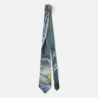 Jean Monet in His Cradle by Claude Monet Tie