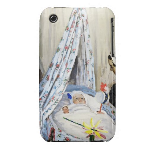 Jean Monet in the Cradle Claude Monet cool, old, iPhone 3 Cover