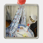 Jean Monet in the Cradle Claude Monet cool, old, Christmas Ornament
