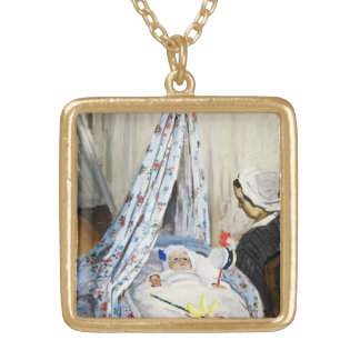 Jean Monet in the Cradle Claude Monet cool old Personalized Necklace