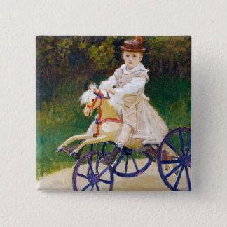 Jean Monet on a Mechanical Horse Claude Monet 15 Cm Square Badge