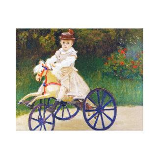 Jean Monet on a Mechanical Horse Claude Monet Gallery Wrap Canvas