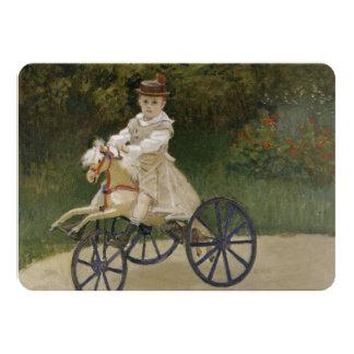 Jean Monet on his hobby horse 11 Cm X 16 Cm Invitation Card