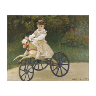 Jean Monet on his hobby horse Stretched Canvas Prints