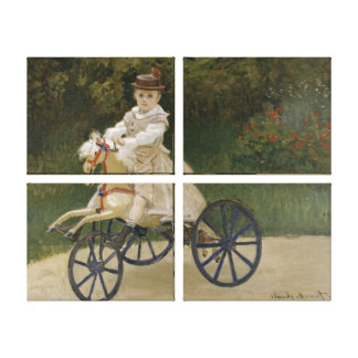Jean Monet on his hobby horse Canvas Prints