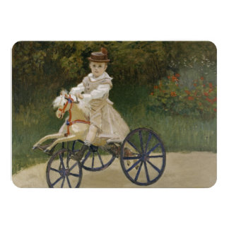 Jean Monet on his hobby horse Invitations