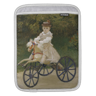 Jean Monet on his hobby horse iPad Sleeve