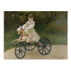Jean Monet on his hobby horse Postcard