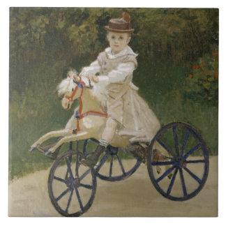 Jean Monet on his hobby horse Tile